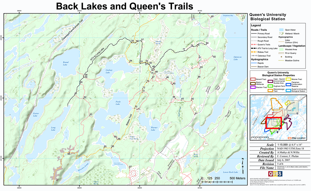 Back Lakes and Queen's Trails