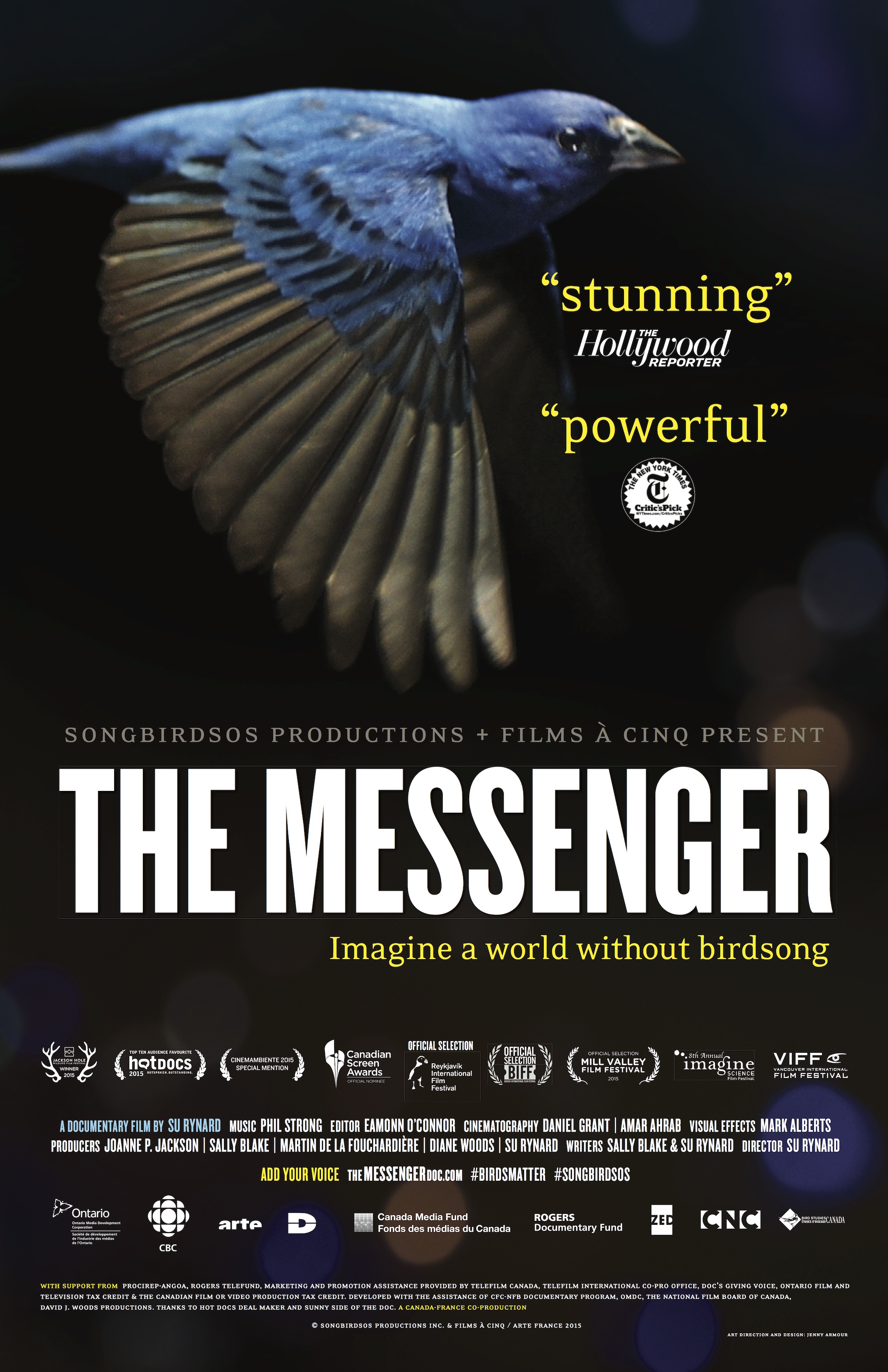 Poster for the documentary the Messenger.