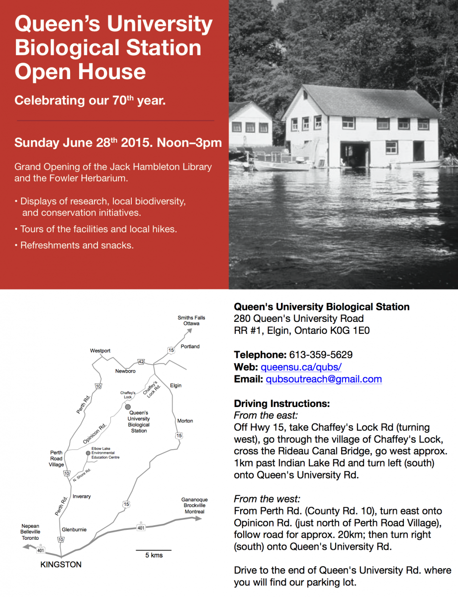 QUBS Open House 2015 Invitation